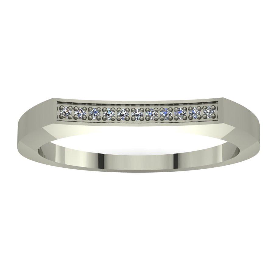 Złoty pierścionek zaręczynowy z brylantami 0,033ct PZB-059