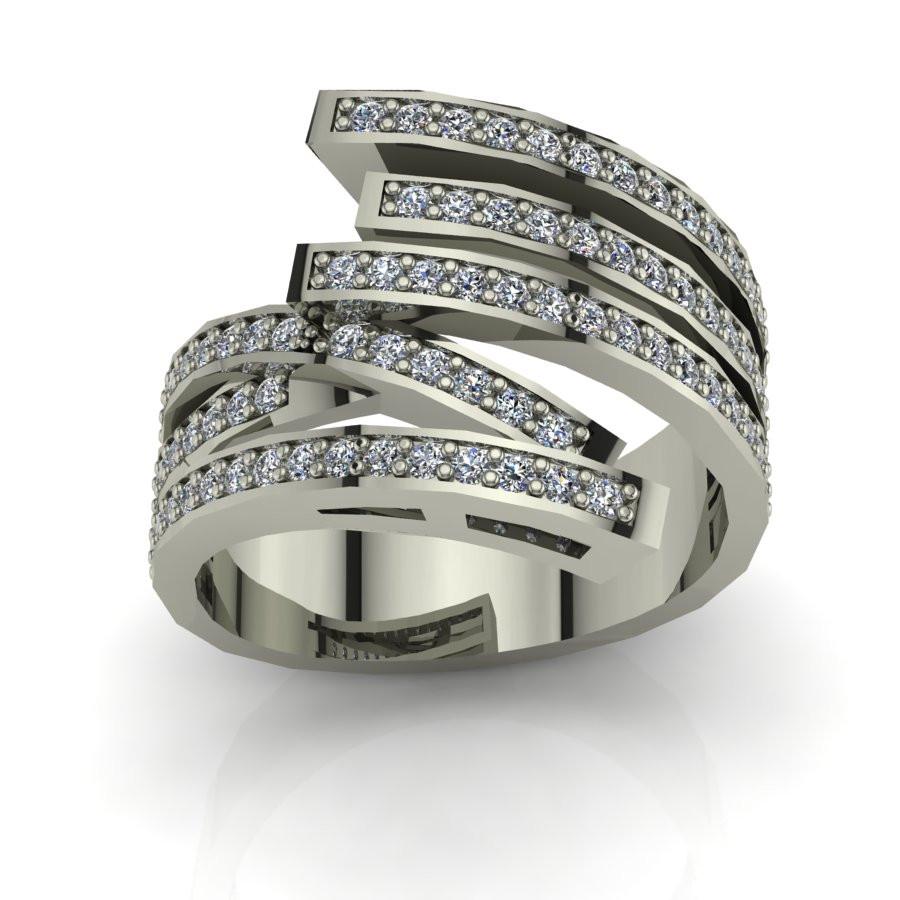 Złoty pierścionek z brylantami o masie 0,41ct PZ-206