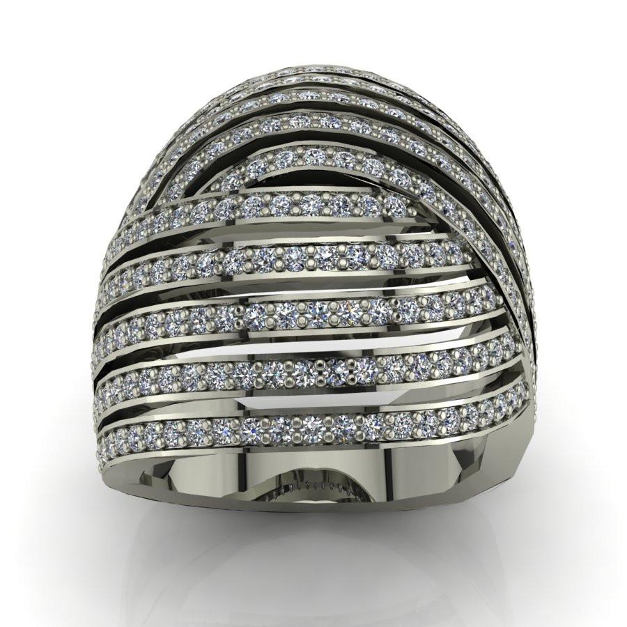 Złoty pierścionek z brylantami o masie 1,03ct PZ-204