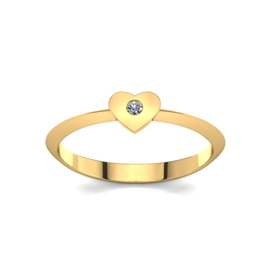 Złoty pierścionek z brylantem 0,015ct PZ-213