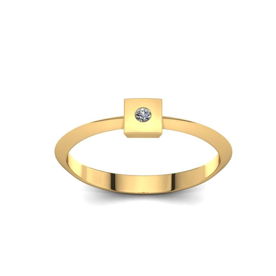 Złoty pierścionek z brylantem 0,015ct PZ-216