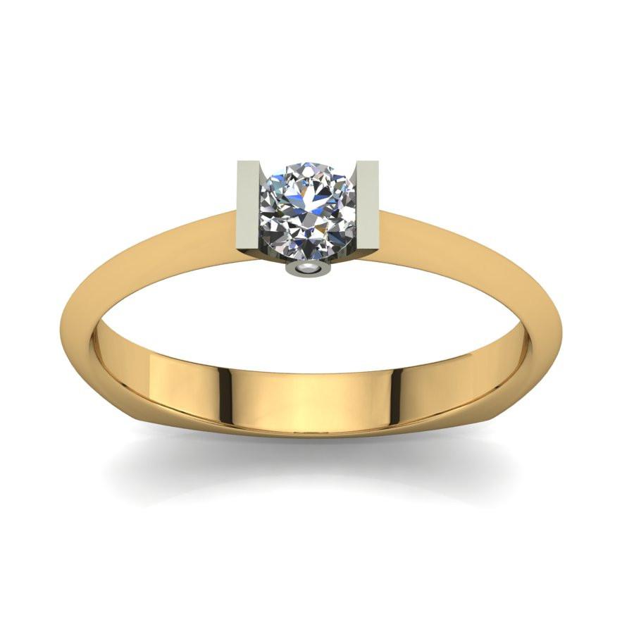 Złoty pierścionek zaręczynowy z brylantami 0,23ct PZ-065