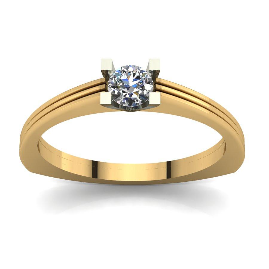 Złoty pierścionek zaręczynowy z brylantem 0,5ct PZ-069