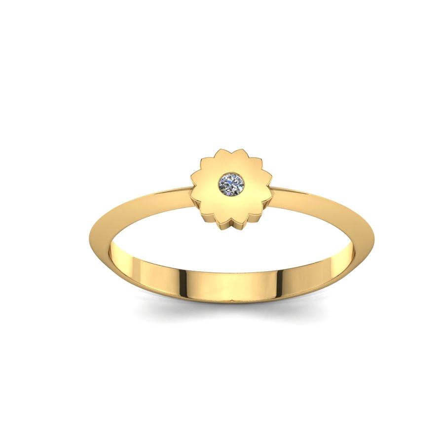 Złoty pierścionek z cyrkonią PZC-215