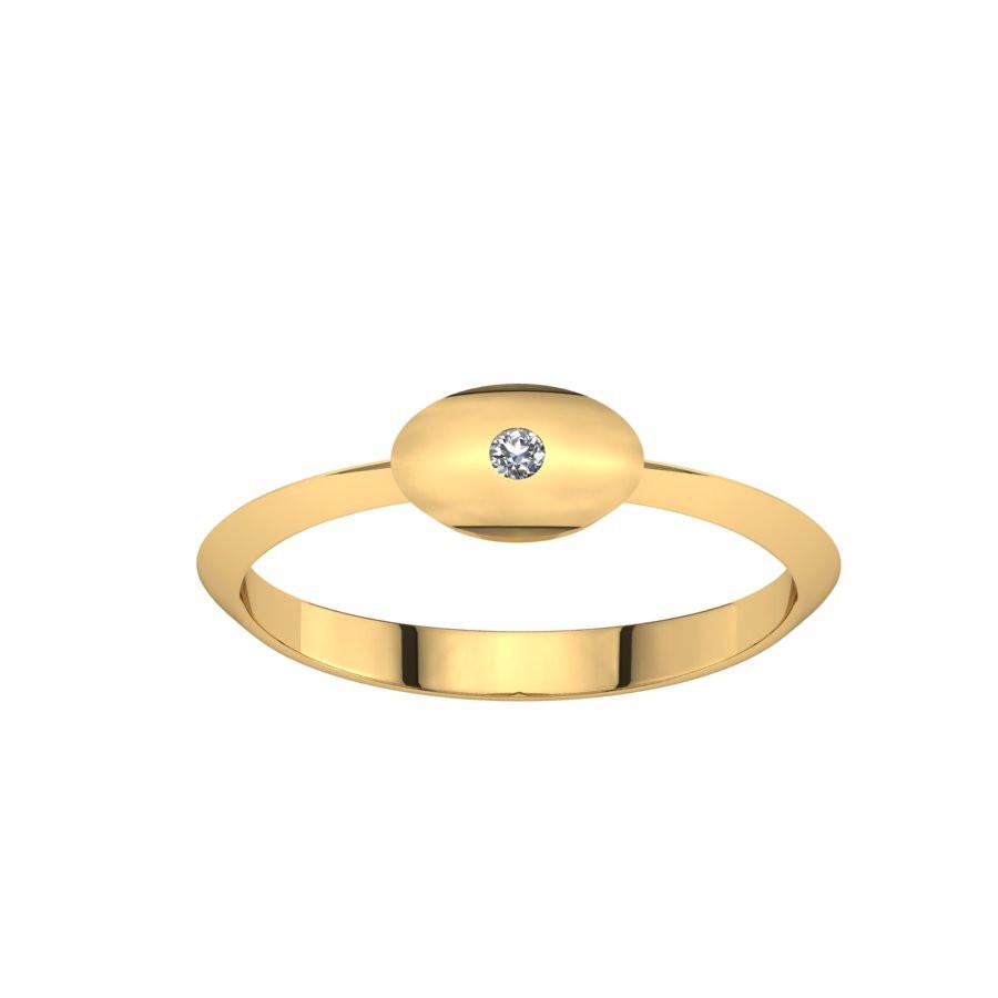 Złoty pierścionek z cyrkonią PZC-217
