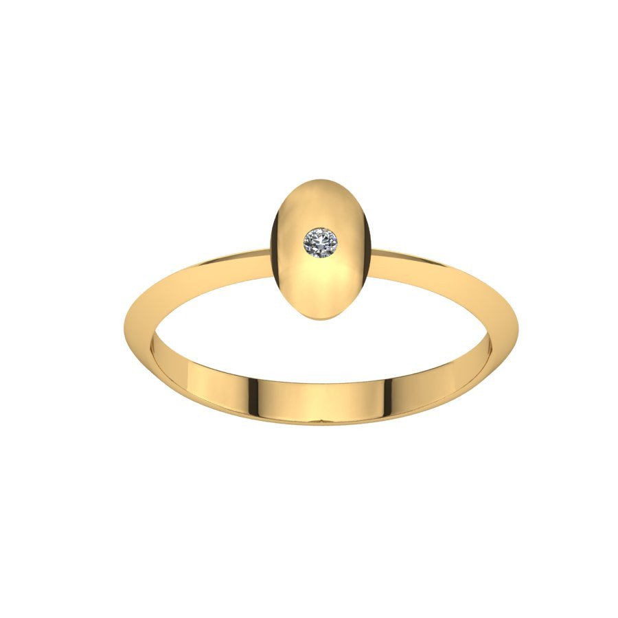 Złoty pierścionek z brylantem 0,015ct PZ-218