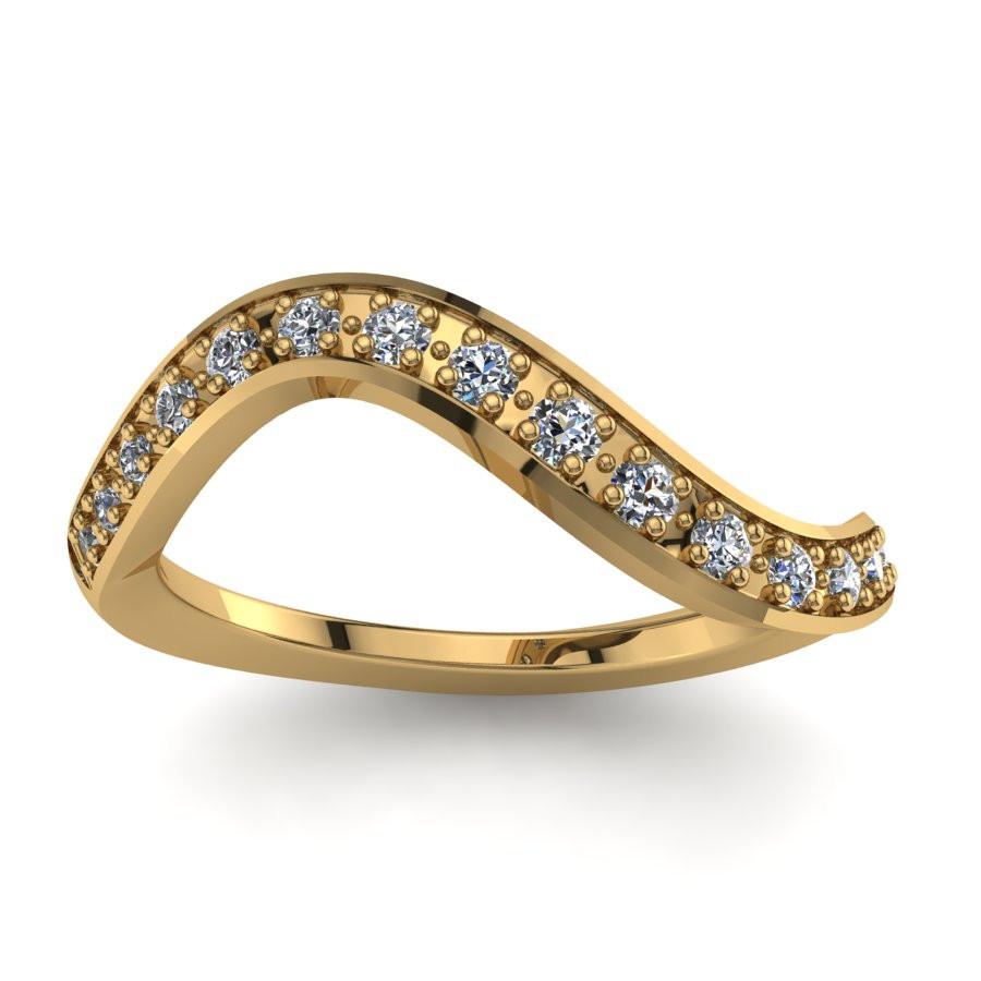 Złoty pierścionek zaręczynowy z cyrkoniami PZ-057C