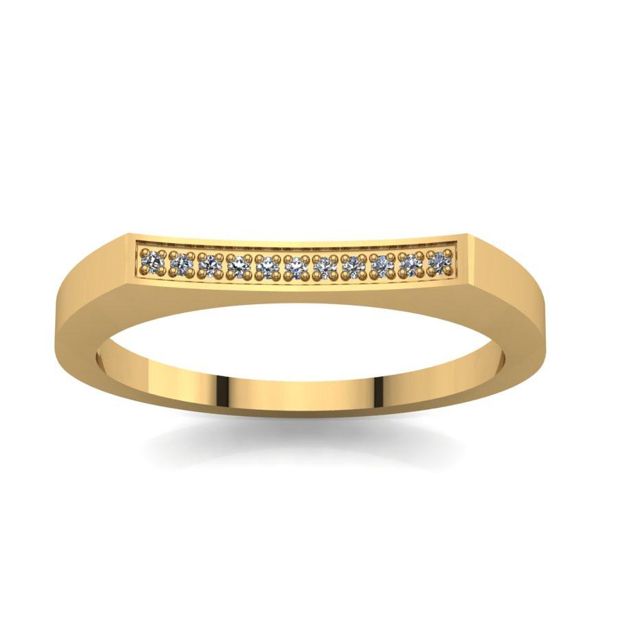 Złoty pierścionek zaręczynowy z cyrkoniami PZ-059C