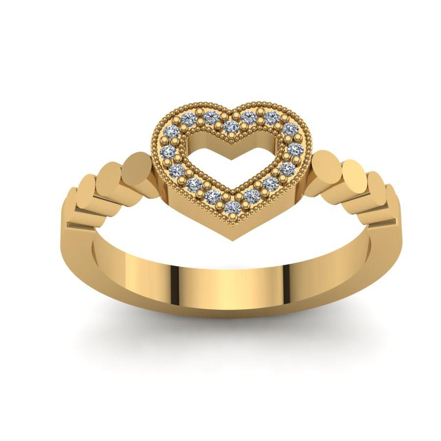 Złoty pierścionek zaręczynowy z brylantem 0,048ct PZ-136