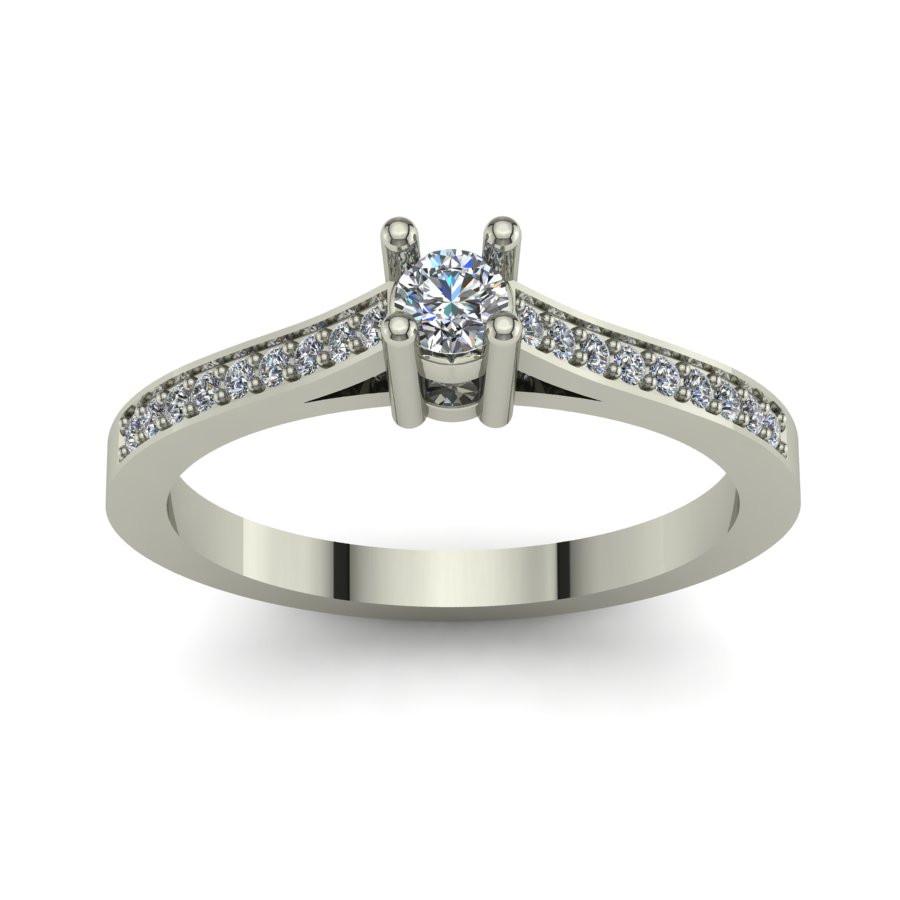 Złoty pierścionek z brylantami o masie 0,19ct PZB-193