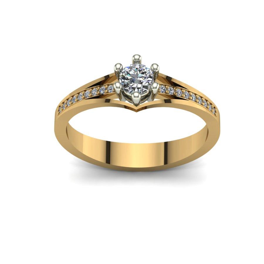Złoty pierścionek zaręczynowy z brylantami 0,284ct PZ-098