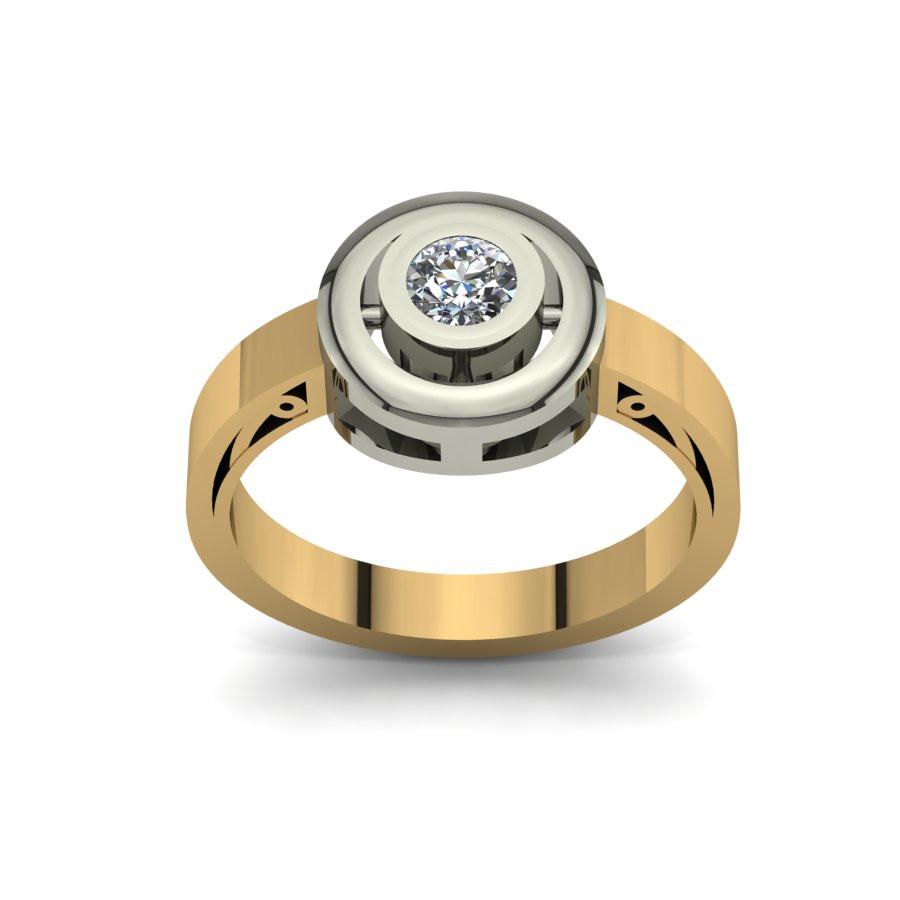 Złoty pierścionek zaręczynowy z brylantami 0,23ct PZ-086
