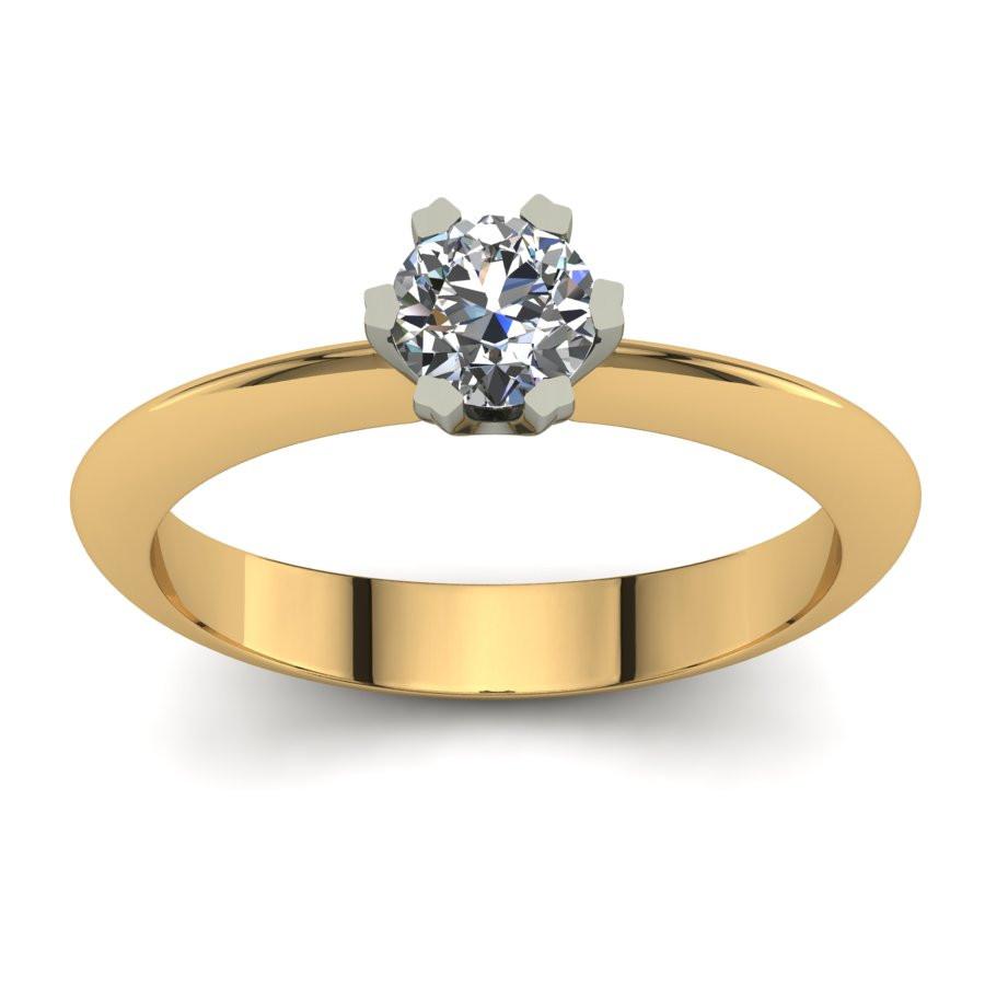 Złoty pierścionek z brylantem o masie 0,49ct PZ-198-5