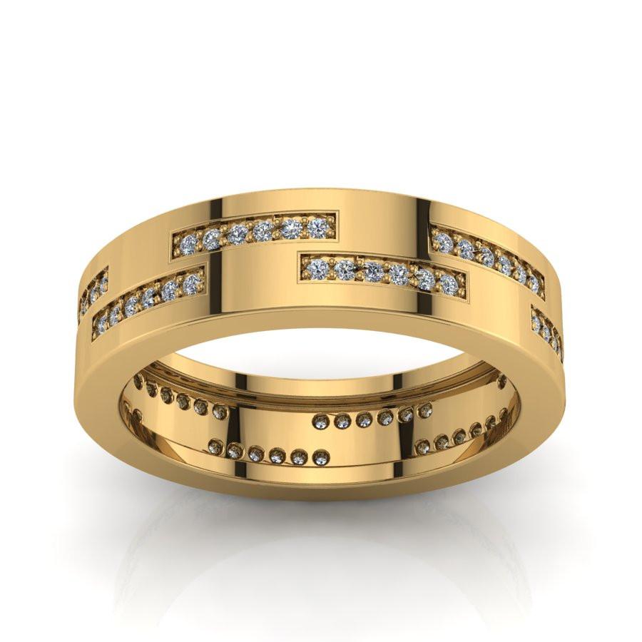 Złoty pierścionek  z cyrkoniami PZ-172C