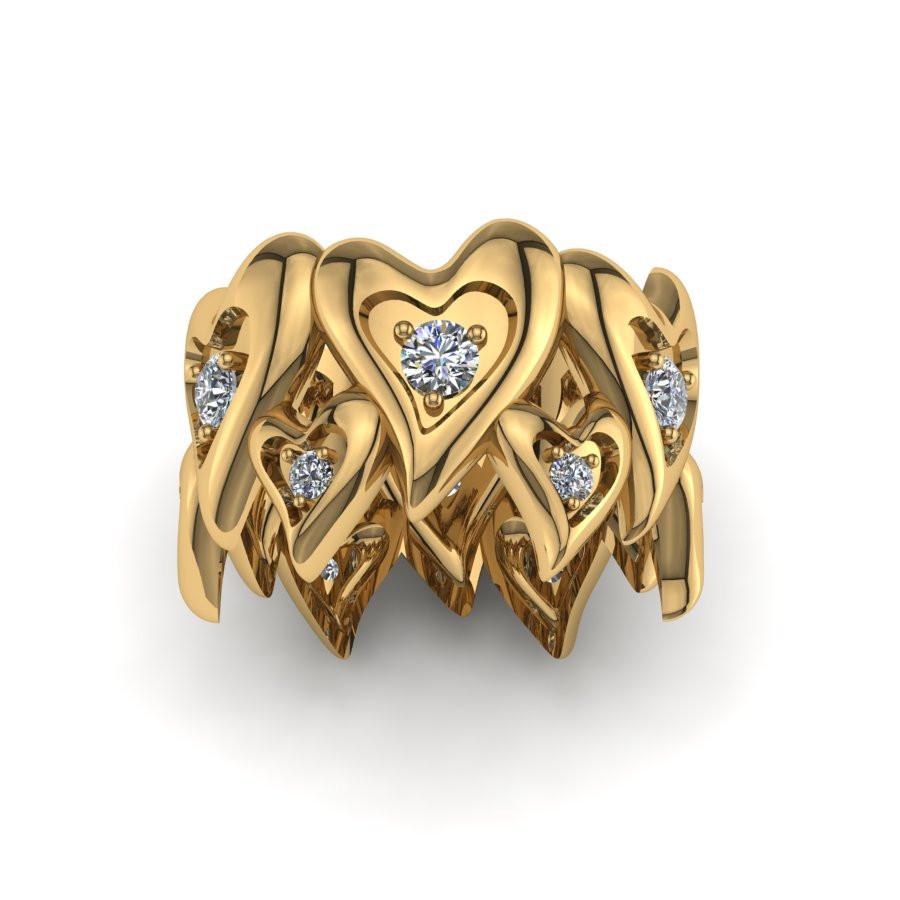 Złoty pierścionek z brylantami o masie 0,48ct PZ-192