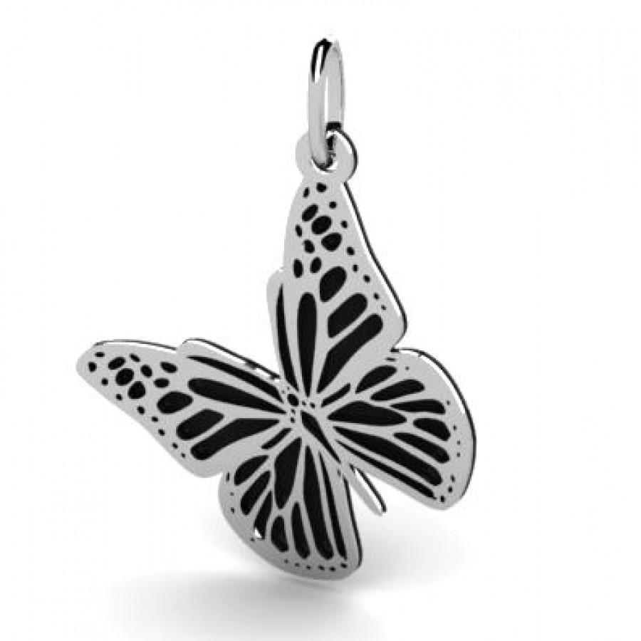 Srebrana zawieszka ażurowa motyl WYOZ-040