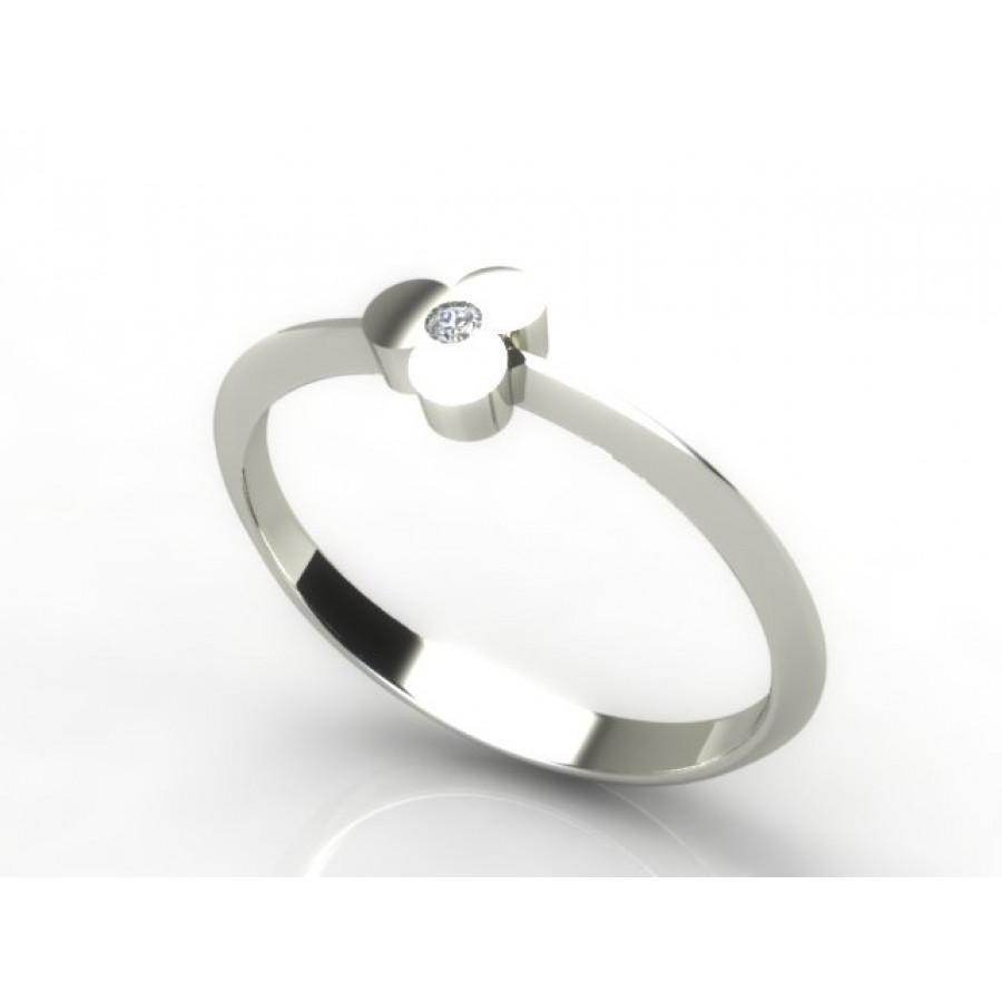 Złoty pierścionek z cyrkonią PZC-080