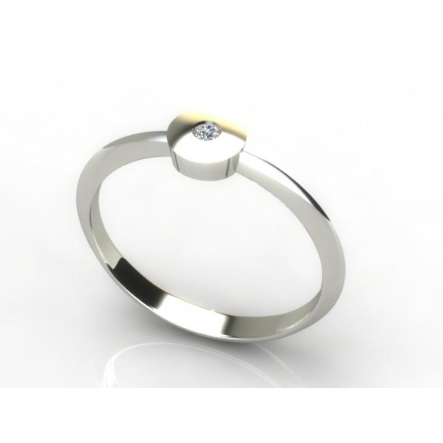 Złoty pierścionek z brylantem 0,015ct PZB-212