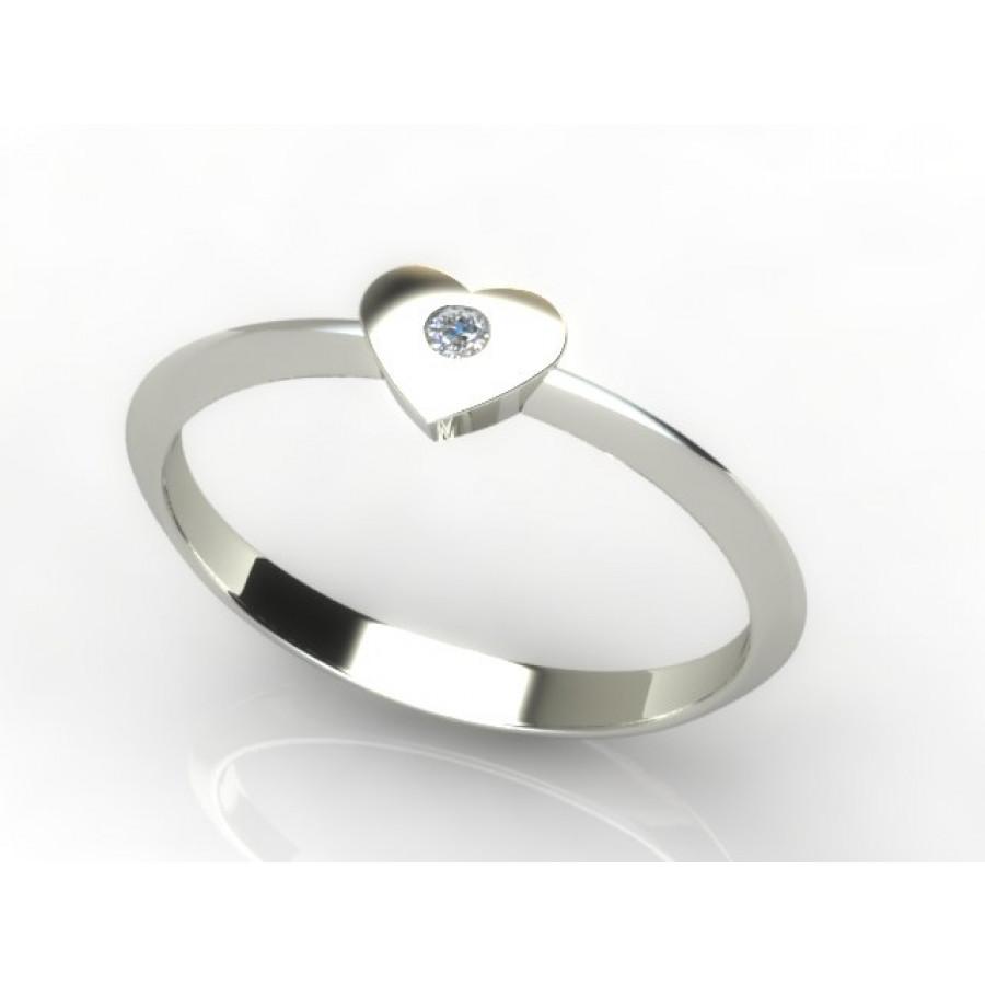 Złoty pierścionek z brylantem 0,015ct PZB-213