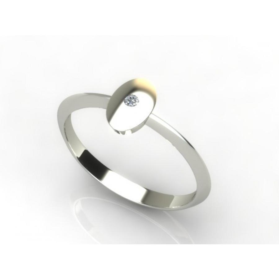 Złoty pierścionek z brylantem 0,015ct PZB-218