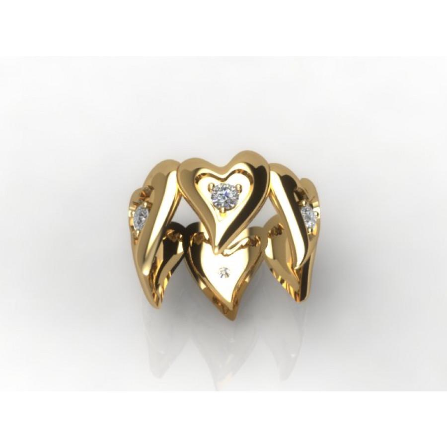 Złoty pierścionek z brylantami o masie 0,36ct PZ-191