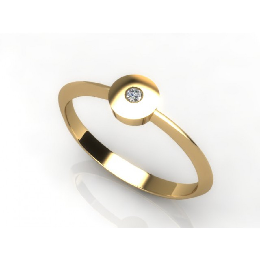 Złoty pierścionek z cyrkonią PZC-212