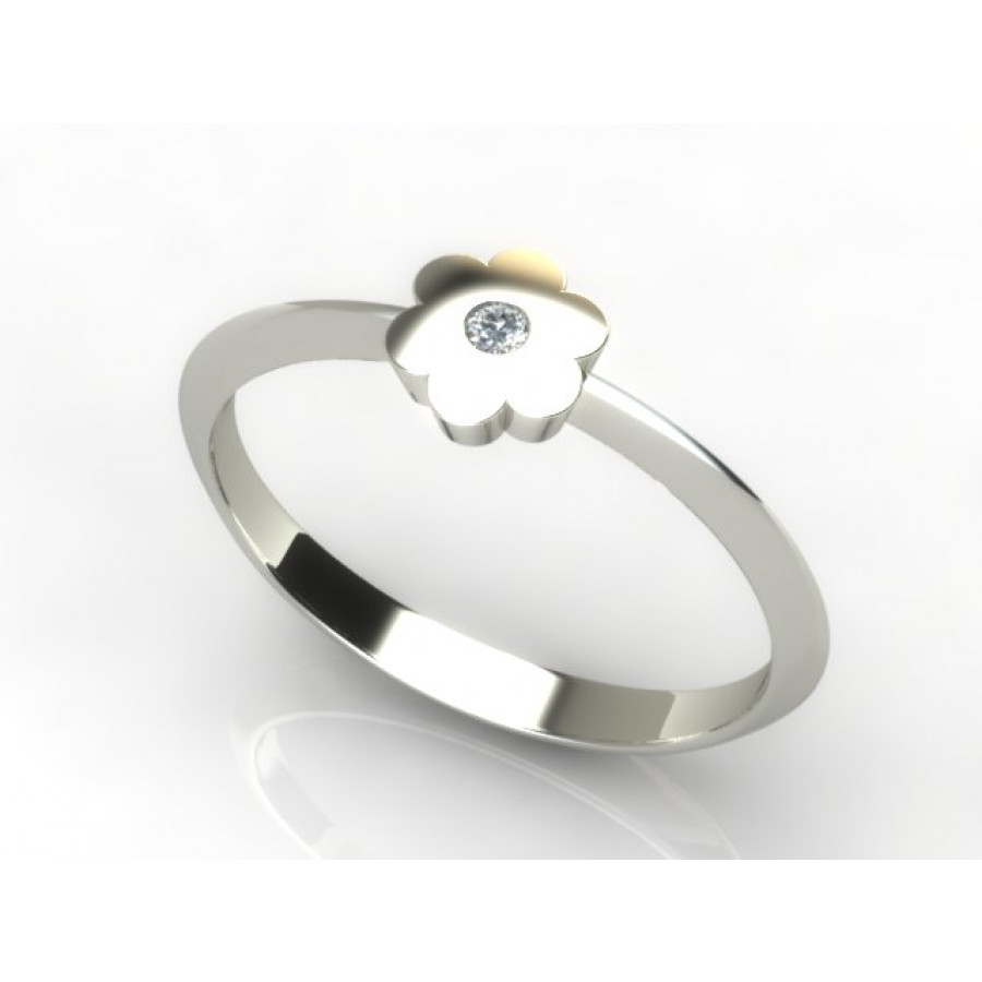 Złoty pierścionek z cyrkonią PZBC-215