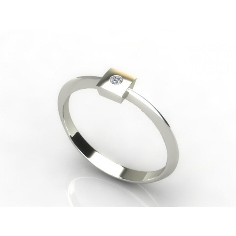 Złoty pierścionek z cyrkonią PZBC-216
