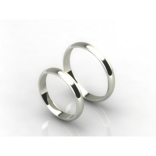 Obrączki Ślubne białe złoto OBR-020-3-B