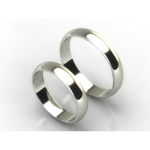 Obrączki Ślubne białe złoto OBR-020-4-B