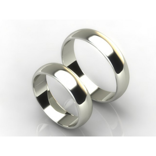 Obrączki Ślubne białe złoto OBR-020-5-B