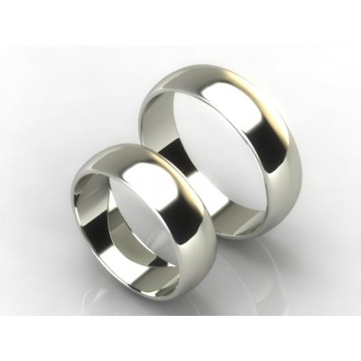 Obrączki Ślubne białe złoto OBR-020-6-B