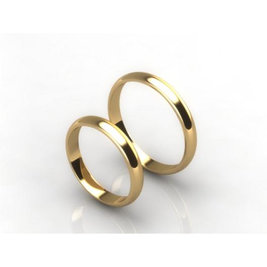 Obrączki Ślubne żółte złoto OBR-020-3-Z