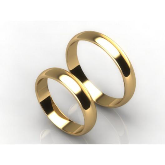 Obrączki Ślubne żółte złoto OBR-020-4-Z