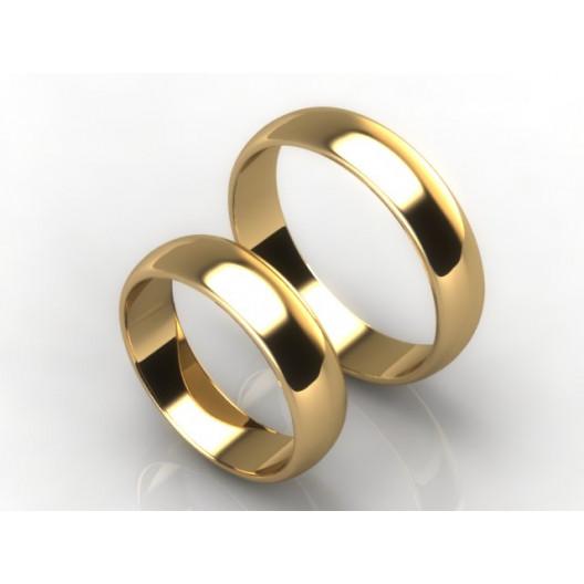 Obrączki Ślubne żółte złoto OBR-020-5-Z