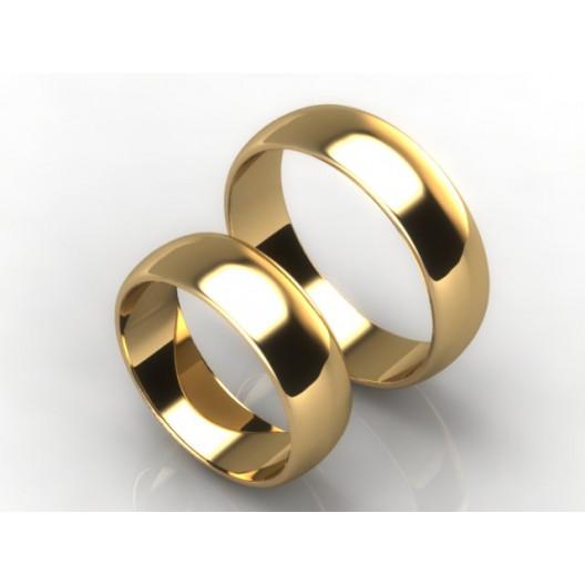 Obrączki Ślubne żółte złoto OBR-020-6-Z