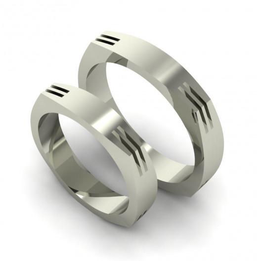 Obrączki Ślubne białe złoto OBB-001-1