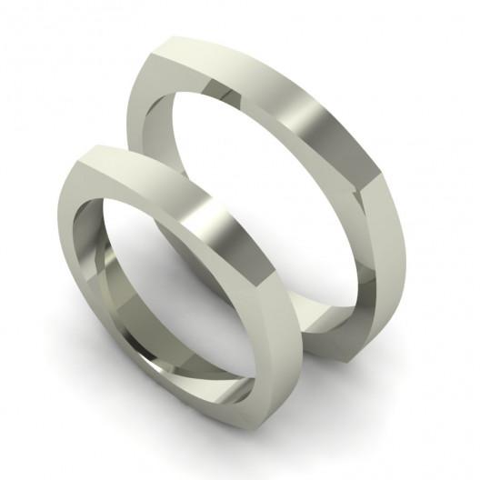 Obrączki Ślubne białe złoto OBB-001