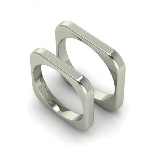 Obrączki Ślubne białe złoto OBB-002-2