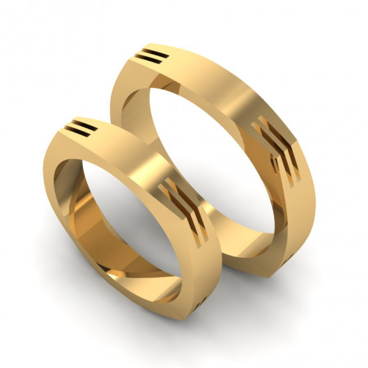 Obrączki Ślubne żółte złoto OB-001-1