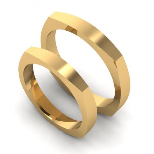 Obrączki Ślubne żółte złoto OB-001