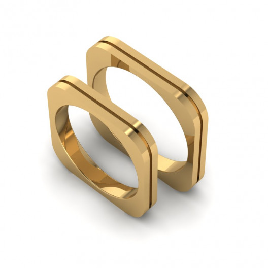 Obrączki Ślubne żółte złoto OB-002-1