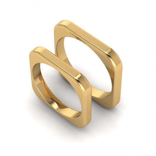 Obrączki Ślubne żółte złoto OB-002-2