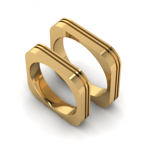Obrączki Ślubne żółte złoto OB-002-4