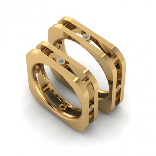 Obrączki Ślubne żółte złoto OB-003-1