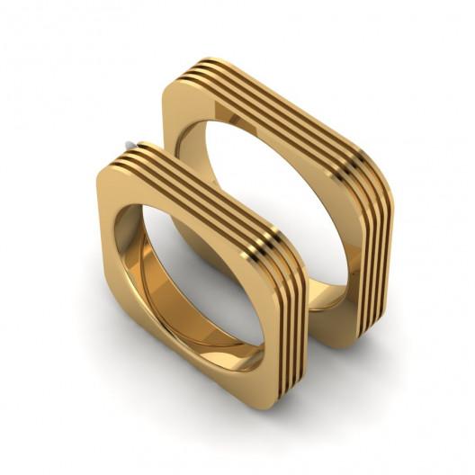 Obrączki Ślubne żółte złoto OB-003-2