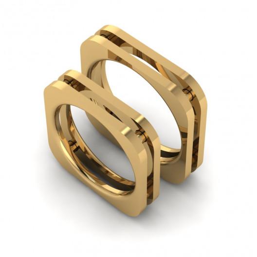 Obrączki Ślubne żółte złoto OB-003