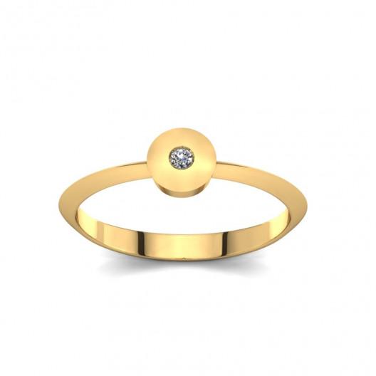 Złoty pierścionek z brylantem 0,015ct PZ-212