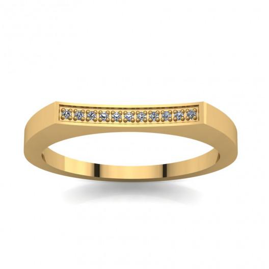 Złoty pierścionek zaręczynowy z brylantami 0,033ct PZ-059