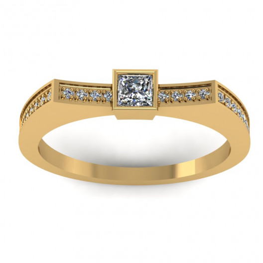 Złoty pierścionek zaręczynowy z brylantami 0,242ct PZ-061